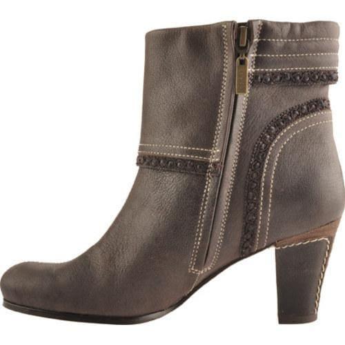 Women's Antia Shoes Marina Mocha Vintage Full Grain Embossed