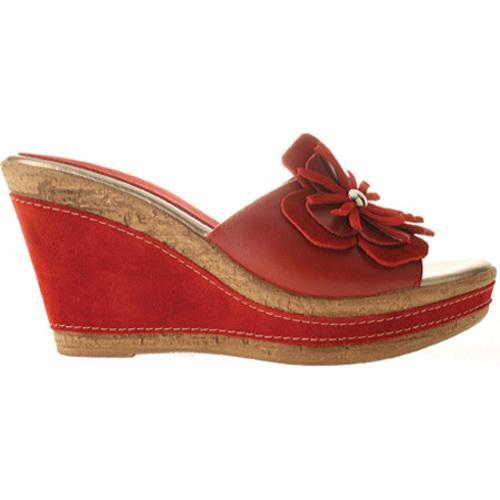 Women's Azura Narcisse Red Leather - Thumbnail 1