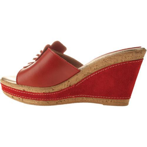 Women's Azura Narcisse Red Leather - Thumbnail 2
