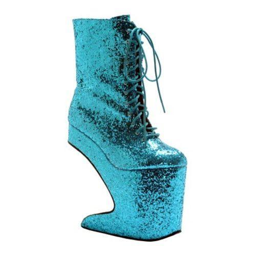 Women's Bettie Page Chablis Turquoise Glitter