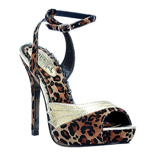 Women's Bettie Page Gilda Leopard/Gold