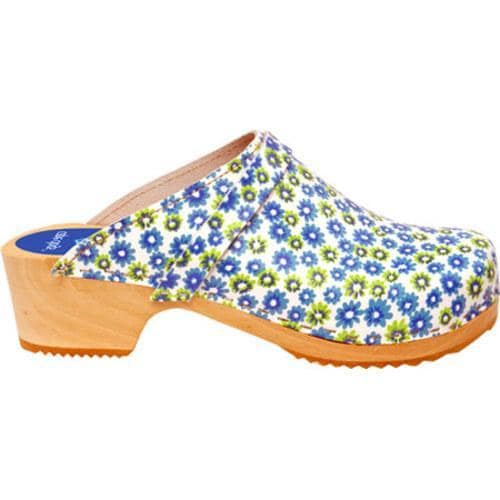 Cape Clogs Twin Flower Blue/Green