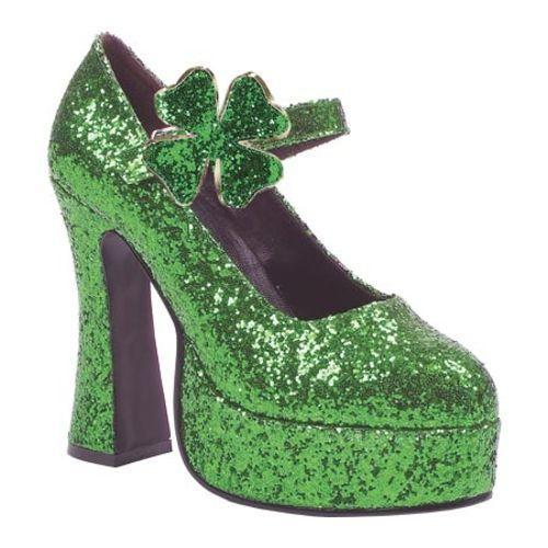 Women's Ellie Lucky-557 Green Glitter