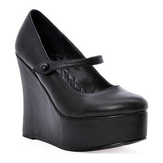 Women's Ellie Wedge-475 Black PU