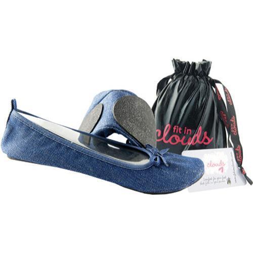 Women's Denim Folding Shoes Blue Denim