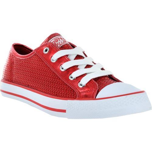 Women's Gotta Flurt Disco Red Textile/Sequin
