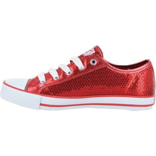 Women's Gotta Flurt Disco Red Textile/Sequin - Thumbnail 2
