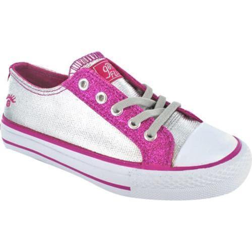 Girls' Gotta Flurt Twisty Shim Silver/Pink Glitter Fabric/Synthetic