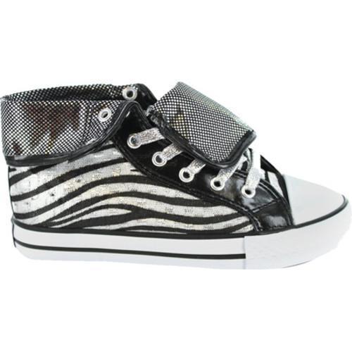 Girls' Gotta Flurt Wildlife Black/Zebra Canvas