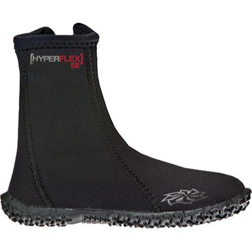 Children's Hyperflex Wetsuits 5mm Hi-Top Zipper Boot Black