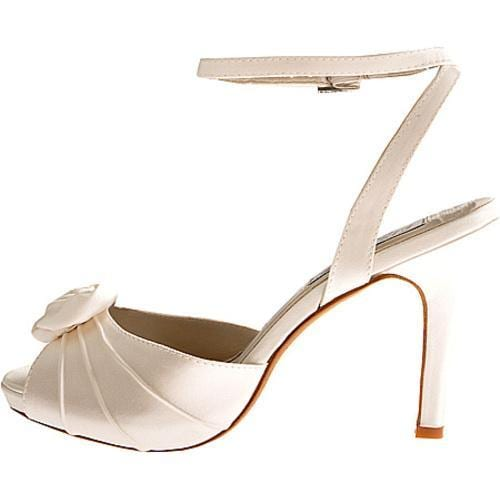 Women's Liz Rene Rose White Silk Satin - Thumbnail 2