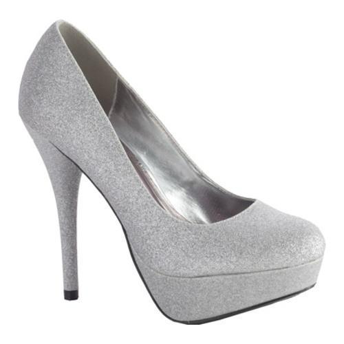 Women's Sizzle Glitter Pump Silver