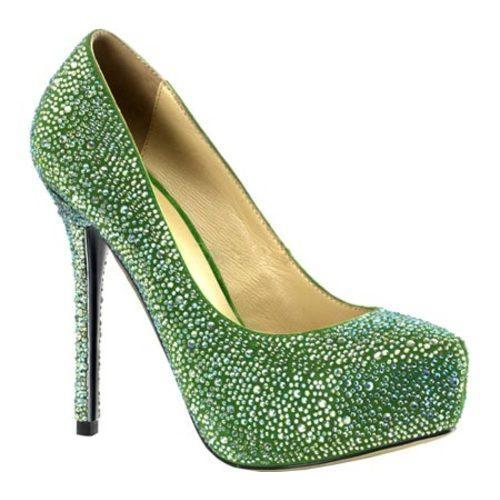 Women's Pleaser Day & Night Prestige 20 Green Suede