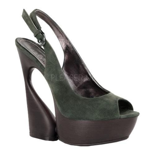 Shop Damens's Pleaser Day & Night 654 Swan 654 Night Olive Suede Free ... cce99e