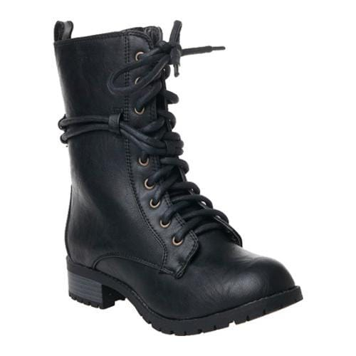 Women's Reneeze Alice-02 Black Synthetic-Leather Boots