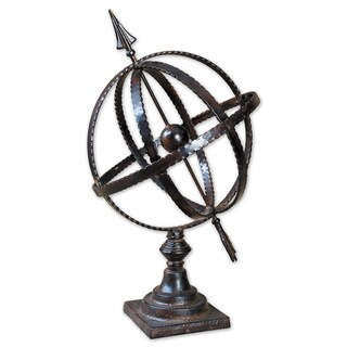 Uttermost Diez Antique Brown Metal Globe