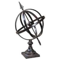 Uttermost Diez Antique Brown Metal Globe