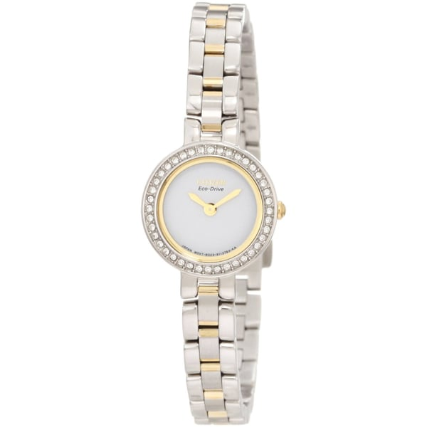 Citizen Women's Two-tone Eco-Drive Silhouette Crystal Watch