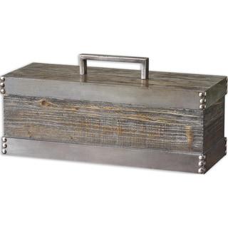 Uttermost Lican Distressed Silver Box