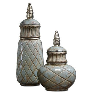Uttermost Deniz Sea Foam Green Containers (Set of 2)