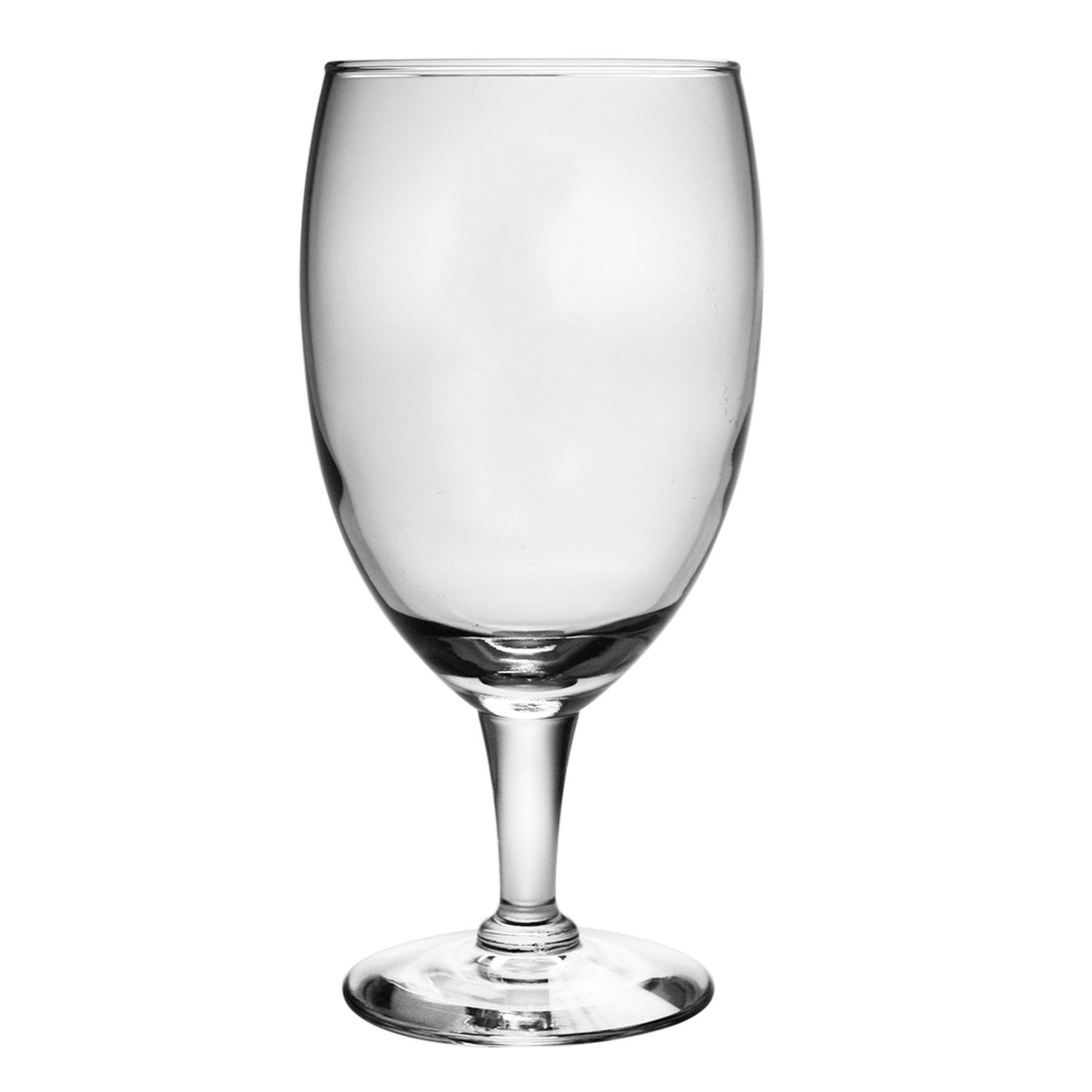Susquehanna Glass Footed Glass Goblets (Set of 4), Clear