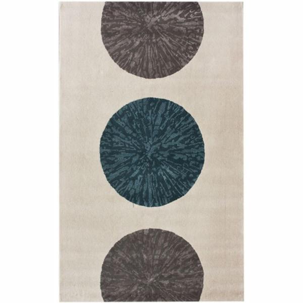 nuLOOM Handmade Ivory Circles Wool Rug