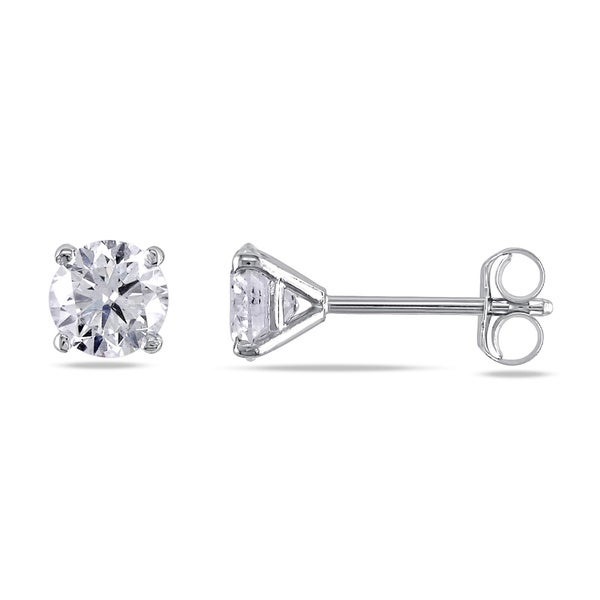 Miadora 14k White or Yellow Gold 1ct TDW Certified Diamond Stud Earrings (G-H, SI1-SI2)