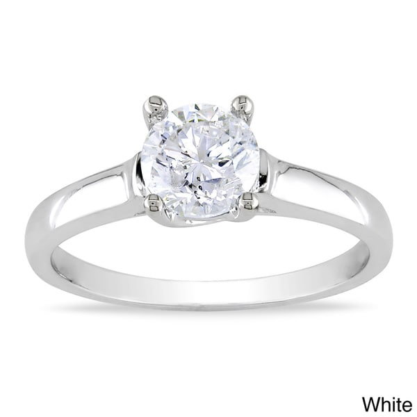 Miadora Signature Collection 14k Gold 1ct TDW Certified Diamond Solitaire Ring (G-H, SI1-SI2)