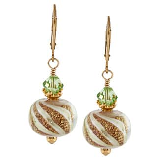 Lola's Jewelry 14k Goldfill Art Glass and Peridot Crystal Earrings|https://ak1.ostkcdn.com/images/products/7491873/7491873/Charming-Life-14K-Goldfill-Green-Art-Glass-Earrings-P14936032.jpeg?impolicy=medium