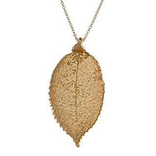 Lola's Jewelry 24k Gold-dipped Leaf Necklace