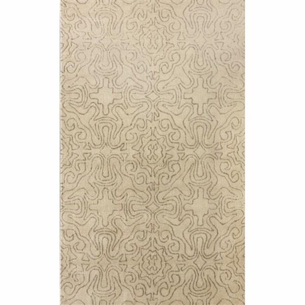 nuLOOM Handmade Natural Spanish Tiles Wool Rug