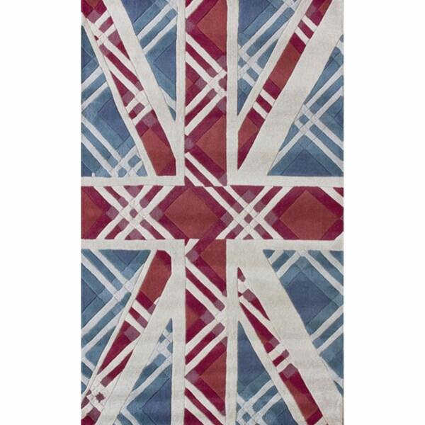 nuLOOM Handmade Union Jack Wool Rug