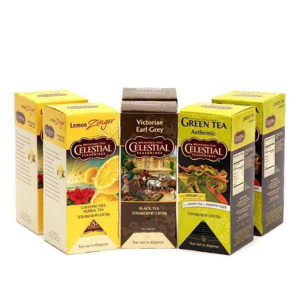 Celestial Seasonings Variety Pack Tea (Pack of 6)