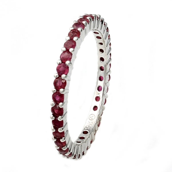 Beverly Hills Charm 10k White Gold Ruby Eternity Band