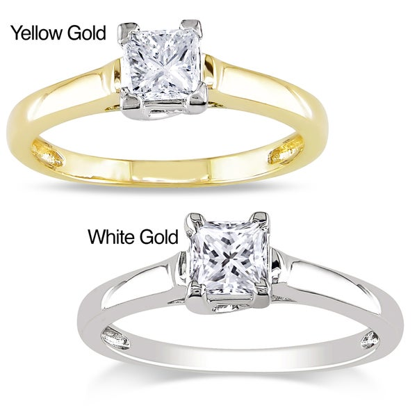Miadora Signature Collection 14k Gold 1/2ct TDW Certified Diamond Solitaire Ring