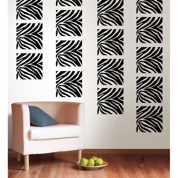 WallPops Go Wild Zebra Print Blox Decal Pack