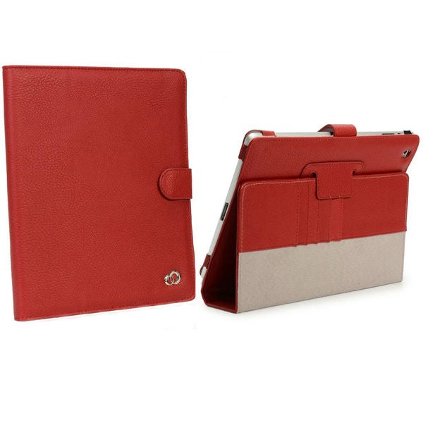 Stylish Apple iPad 4 Red Stand Case