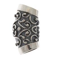Sterling Silver Floral Slider Bail with Loop