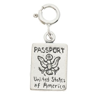 Sterling Silver Passport Charm