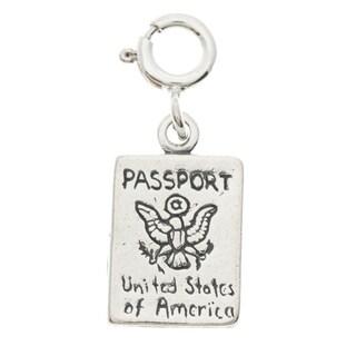 Sterling Silver Passport Charm