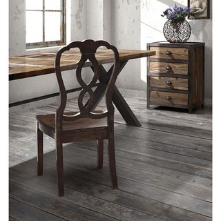 Haight Ashbury Rustic Distressed Wood and Metal Table