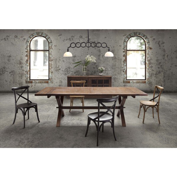 Laurel Heights Rustic Distressed Wood and Metal Dining Table