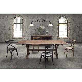 laurel heights rustic distressed wood and metal dining table free shipping today overstock