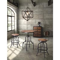Twin Peaks Industrial Distressed Wood and Metal Bar Table