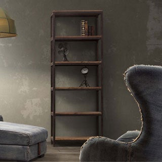 'Mission Bay' Tall 6-shelf Distressed Natural Finish Bookshelf
