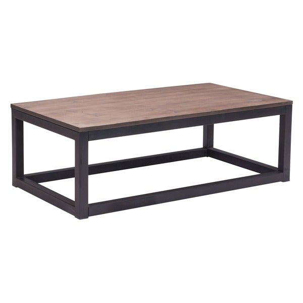Distressed Natural Wood Coffee Table: Shop Civic Center Distressed Natural Long Coffee Table