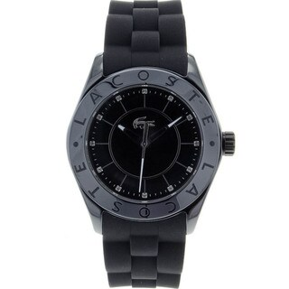 Lacoste Women's Biarritz Black-Dial Stainless Steel Watch