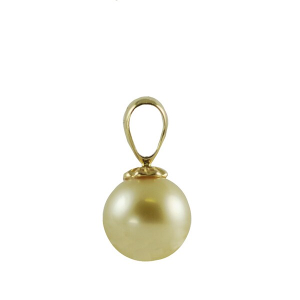 Shop pearls for you 14k yellow gold golden south sea pearl pendant pearls for you 14k yellow gold golden south sea pearl pendant 10 11 mm aloadofball Gallery