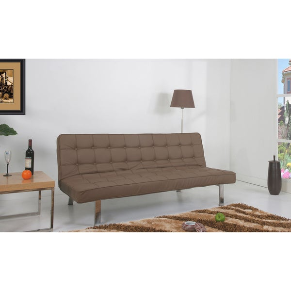 'Vegas' Taupe Futon Sofa Bed