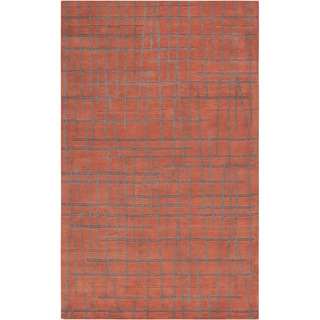 Hand-tufted Donna Geometric Lines Wool Rug